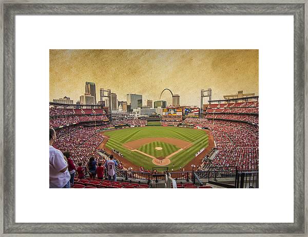 St. Louis Cardinals Busch Stadium Texture 9252 Framed Print