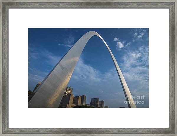 St. Louis Gateway Arch Sunrise Framed Print