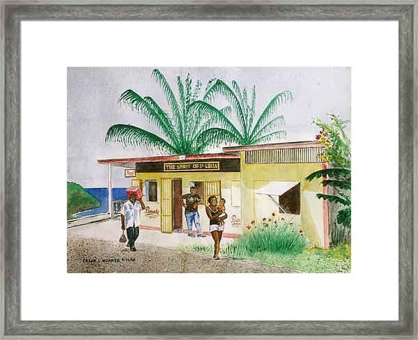 St. Lucia Store Framed Print
