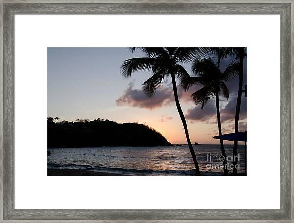 St. Lucian Sunset Framed Print