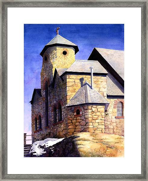St Malo Sunset Framed Print by Mary Giacomini