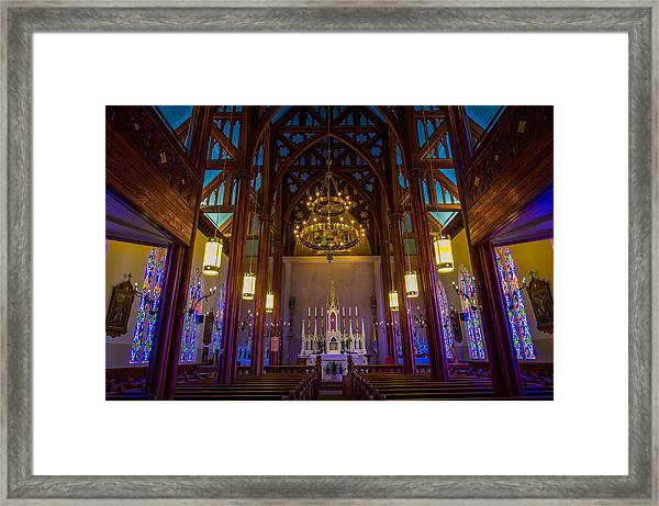 St. Mary's Of The Mountains Church Framed Print