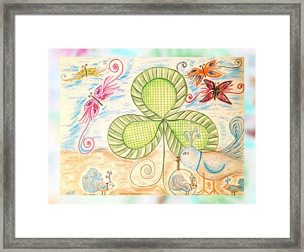 St Pattys Day Lunch Framed Print