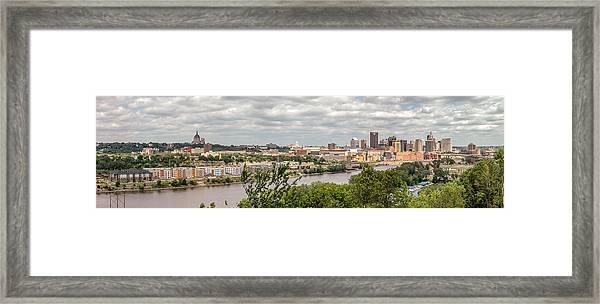 St Paul Skyline 2005 Framed Print