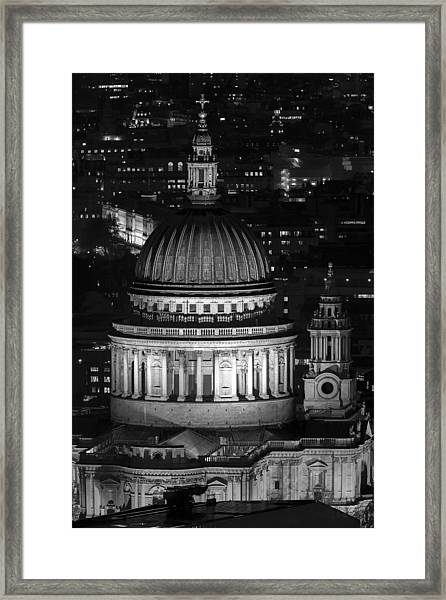 London St Pauls At Night Framed Print