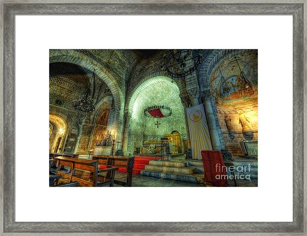 St Pere De Puelles Church - Barcelona Framed Print