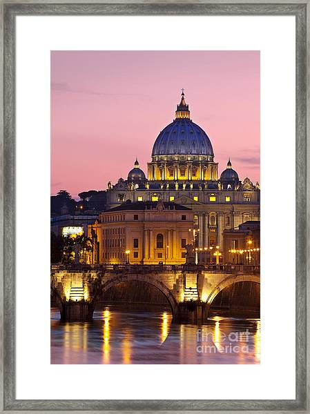 Framed Print featuring the photograph St Peters Basilica by Brian Jannsen