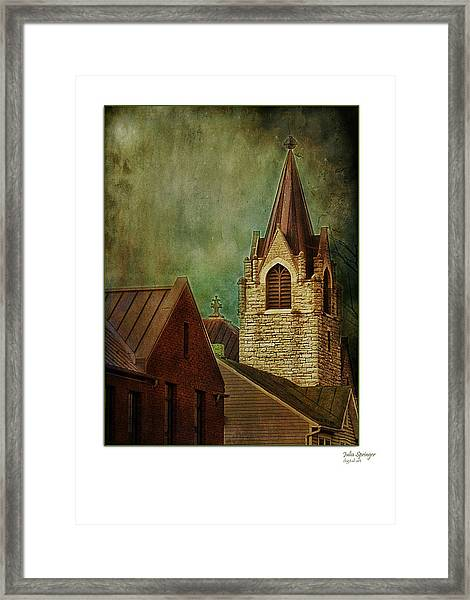 St Peter's By Night Greeting Card Framed Print