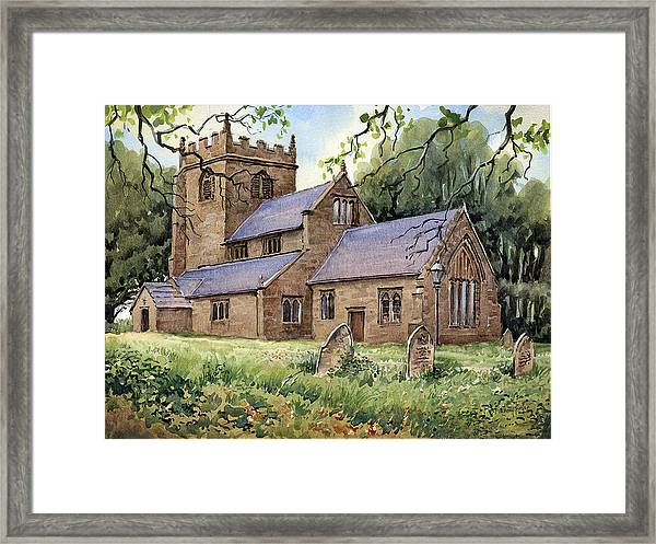 St. Peters Church Broughton Framed Print
