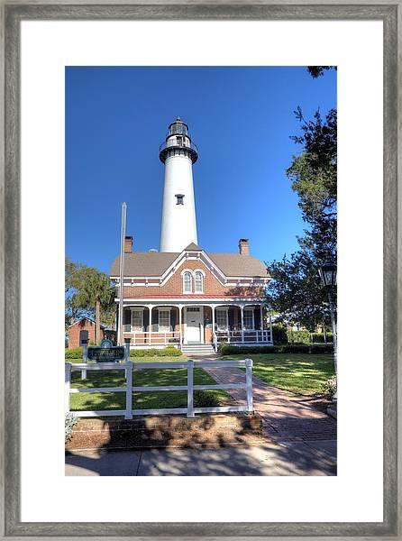St. Simons Island Light Station Framed Print