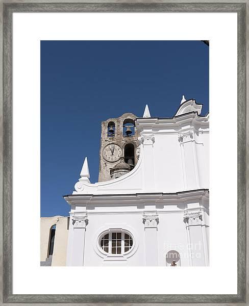 St Sofia Church In Anacapri Framed Print