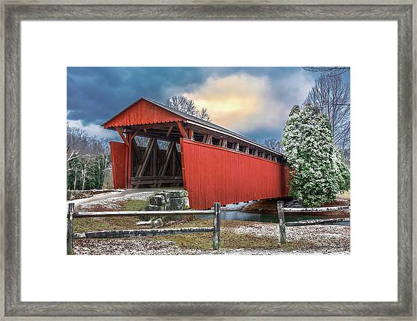 Staats Mill Covered Bridge Framed Print