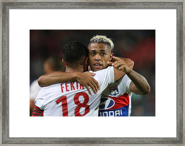 Stade Rennais V Olympique Lyonnais - Ligue 1 Framed Print by Jean Catuffe