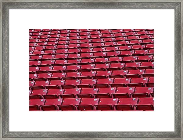 Stadium Seating Framed Print