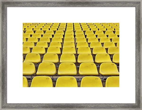Stadium Seats Framed Print by 35007