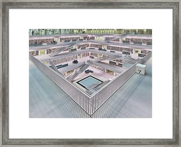 Stadtbibliothek Stuttgart Inner Space I Framed Print