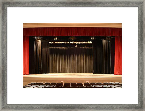 Stage Curtain 2 Framed Print by Jondpatton