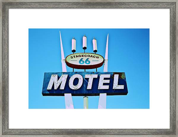Stagecoach 66 Motel Framed Print