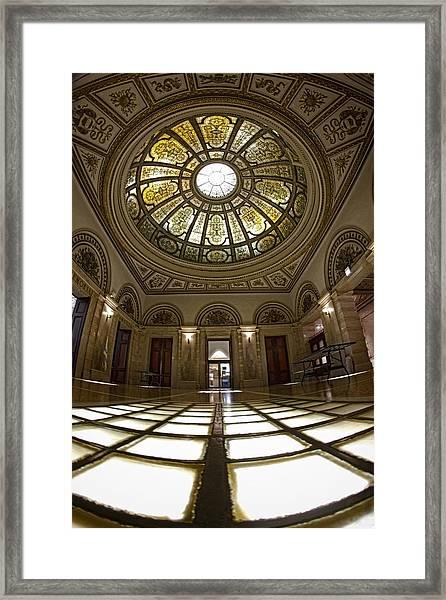 Stain Glass Rotunda Framed Print