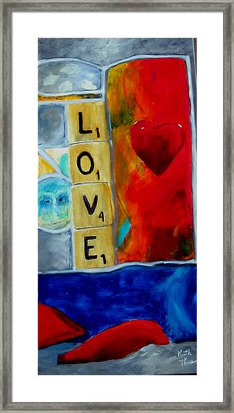 Stained Glass Love Framed Print