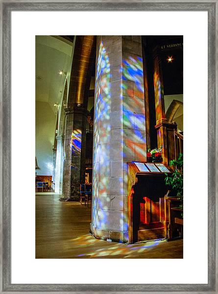 Stained Light Framed Print