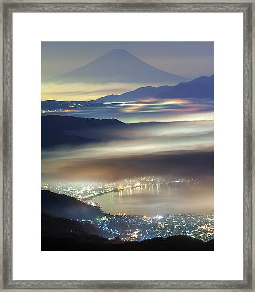 Staining Sea Of Clouds Framed Print