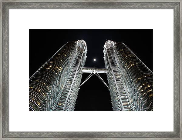 Stainless Steel Moon Framed Print