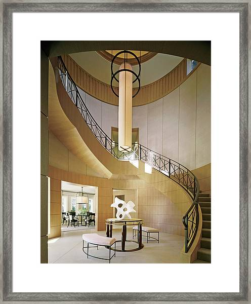 Staircase In Luxurious House Framed Print