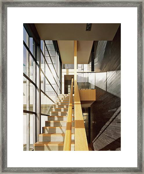 Staircase In Office Block Framed Print