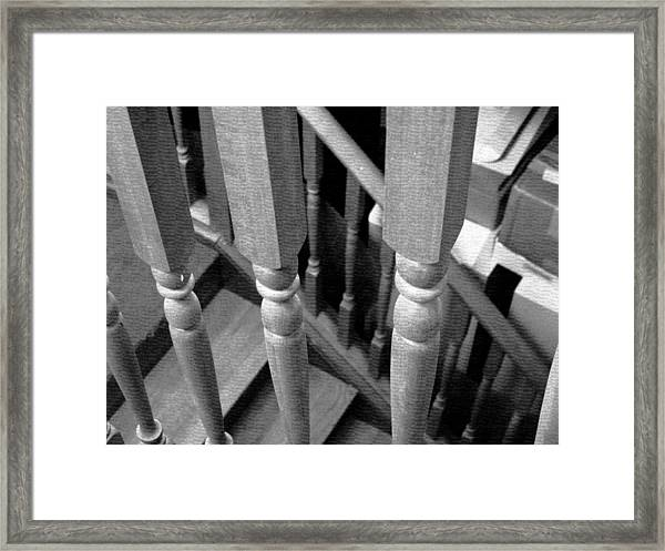 Stairs And Railings Framed Print