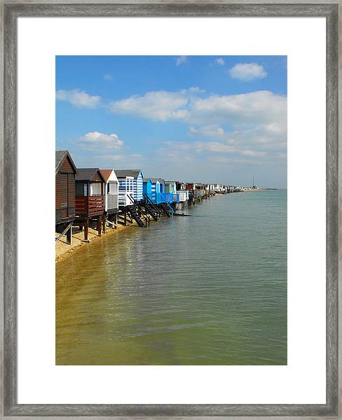 Stairs To Sea Framed Print