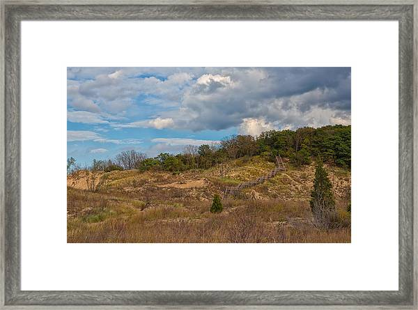 Stairway Of The Dunes Framed Print