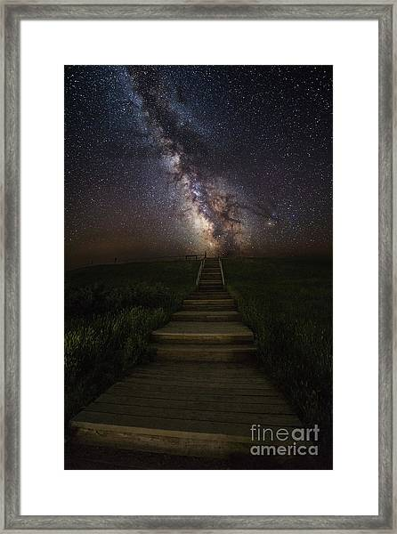 Stairway To The Galaxy Framed Print