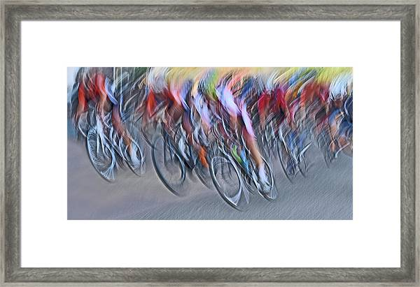 Stampede Framed Print by Lou Urlings