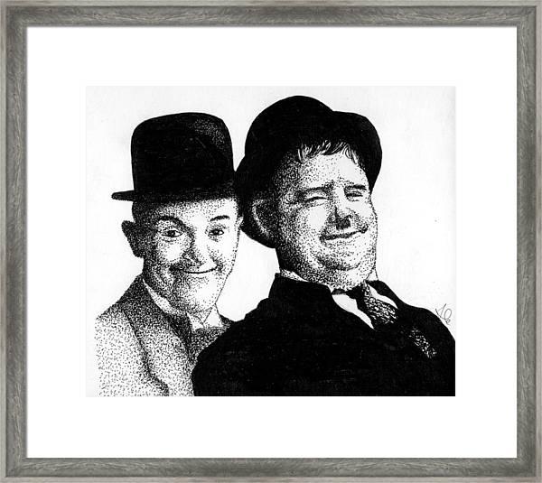 Stan And Oliver Framed Print