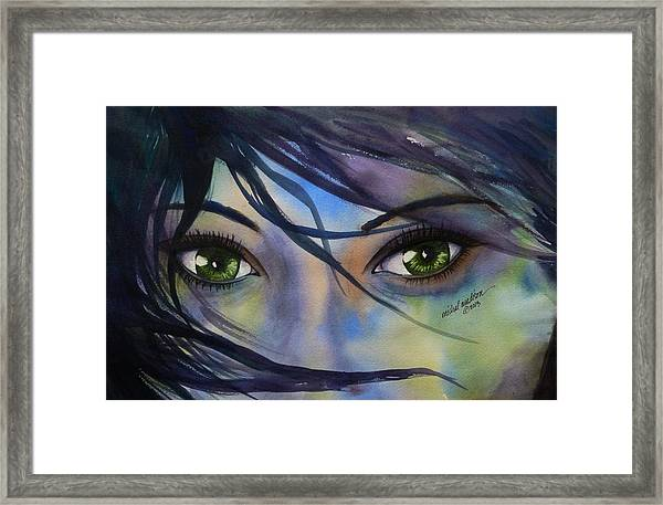Wind Blown Framed Print