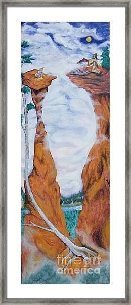 Standing Rock Dragon Framed Print