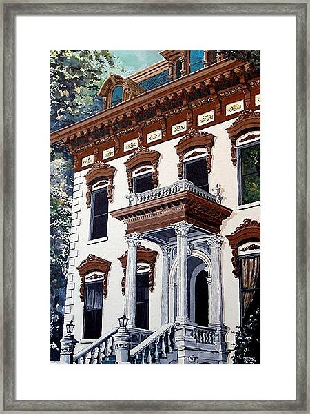 Stanford Mansion Framed Print by Paul Guyer
