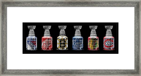 Stanley Cup Original Six Framed Print