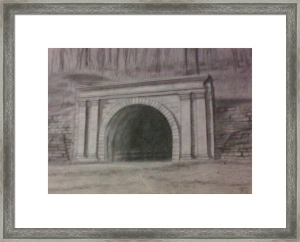 Staple Bend Tunnel West Facade Framed Print
