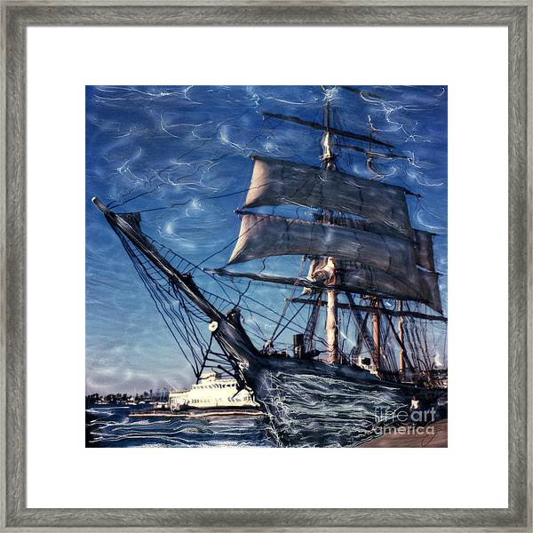 Star Of India Ghost Ship Framed Print