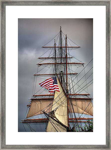 Star Of India Stars And Stripes Framed Print