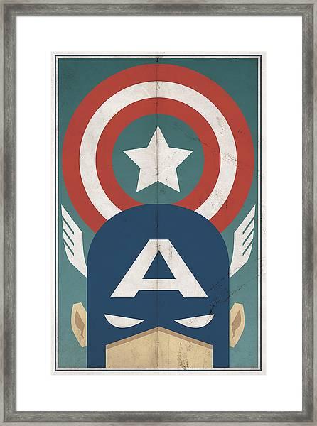 Star-spangled Avenger Framed Print