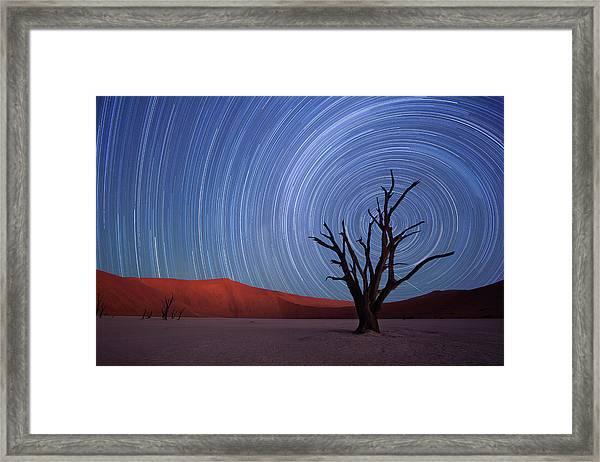 Star Trails, Dead Vlei, Sossusvlei Framed Print