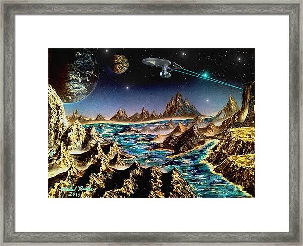 Star Trek - Orbiting Planet Framed Print