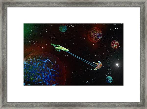 Star Trek -uss Enterprise Framed Print