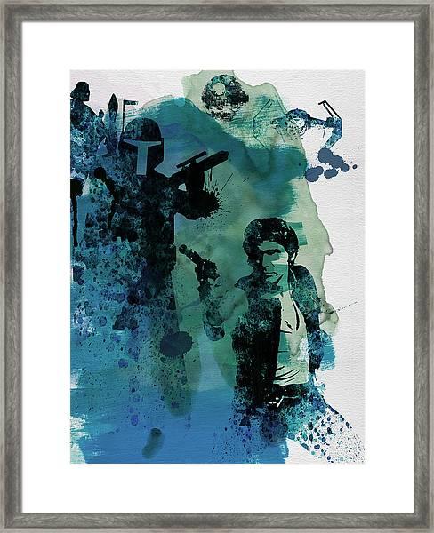 Star Warriors Watercolor 2 Framed Print
