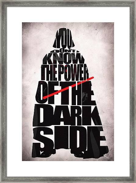 Star Wars Inspired Darth Vader Artwork Framed Print