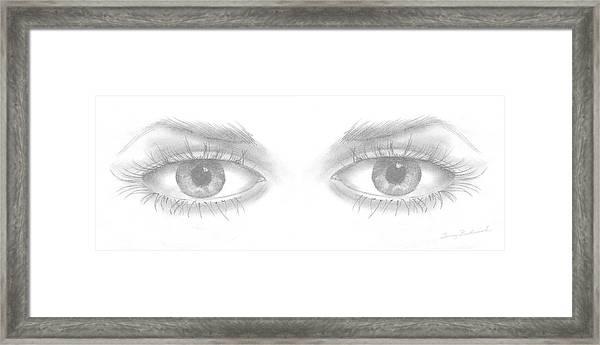 Stare Framed Print