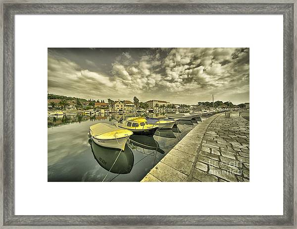 Stari Grad Reflections  Framed Print